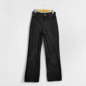 ZARA Black High Rise Wide Flared Leg Jeans